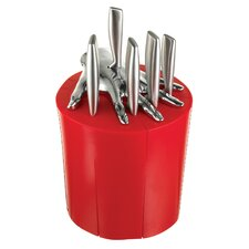 Kitchen Knife Holder in Red (Set of 6)