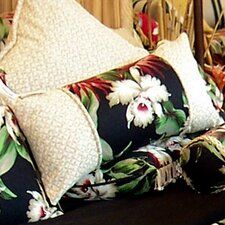<strong>Hanalei Home</strong> Orchids 3 Panel Cotton Pillow