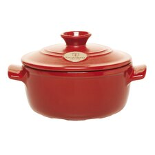 Flame Top 1.88-qt. Clay Round Casserole