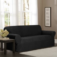 Stretch Dot Loveseat Slipcover