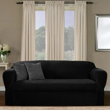 <strong>Maytex</strong> Collin Stretch Separate Seat Loveseat Slipcover
