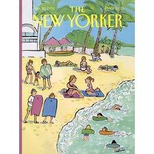 Condé Nast New Yorker Beach Scene Beach Towel