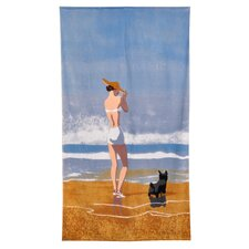 Conde Nast Beach Girl Dog Beach Towel