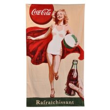 Coke Retro Girl Beach Towel