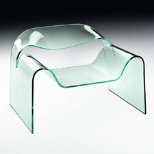 Ghost Curved Glass Monolithic Chair