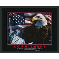 Motivational Commitment Framed Photographic Print