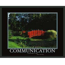 Motivational Communication Framed Photographic Print