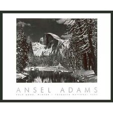 'Half Dome Winter' by Ansel Adams Framed Photographic Print