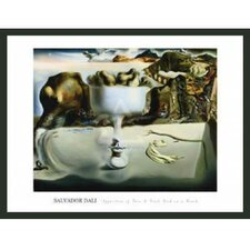 'Apparition of Face and Fruit Dish on Beach' by Salvador Dali Framed Painting Print
