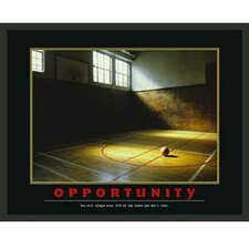 Motivational Opportunity Framed Photographic Print