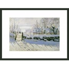 'The Magpie' by Monet Framed Painting Print