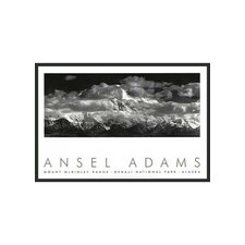 "Range Clouds Framed Print by Ansel Adams - 24"" x 36"""