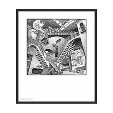 "Relativity by Escher Framed Print - 25.5"" x 21.75"""