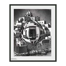 "Balcony by Escher Framed Print - 25.5"" x 21.75"""