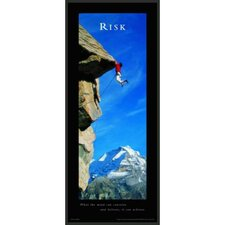 "Motivational Framed Risk Print - 36"" x 12"""