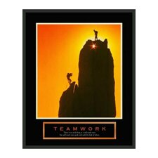 "Motivational Framed Teamwork Print - 28"" x 22"""