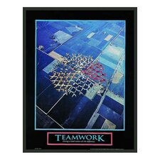 Motivational Teamwork Framed Photographic Print