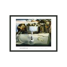 "<strong>Frames By Mail</strong> Apparition of Face and Fruit Dish on Beach by Dali Framed Print - 24"" x 32"""