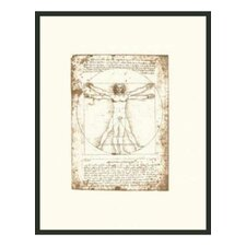 "<strong>Frames By Mail</strong> The Vitruvian Man Framed Print - 14"" x 11"""