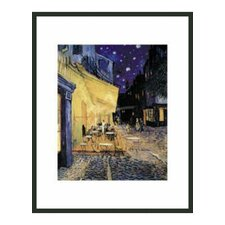 'Café Terrace at Night' by Van Gogh Framed Painting Print