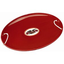 Flexible Flyer Steel Saucer in Red