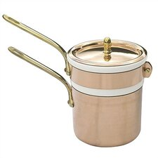 <strong>Mauviel</strong> M'tradition Cupretam Copper 1.6-qt. Double Boiler with Lid