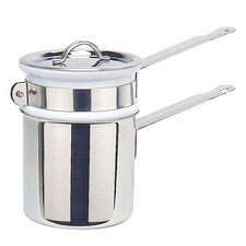 <strong>Mauviel</strong> M'cook Cupretam 0.9-qt. Stainless Steel Double Boiler with Lid