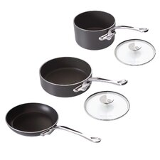M'Stone2 Anodized Aluminium 5-Piece Cookware Set