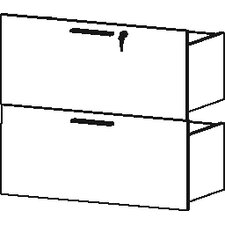 Performance File Drawer with Lock (Set of 2)