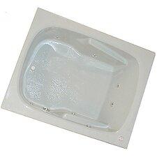 "60"" x 48"" Arm-Rest Whirlpool Tub"