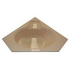 "60"" x 60"" Corner Oval Whirlpool Tub"