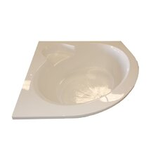 "60"" x 60"" Round Front Soaker Corner Bathtub"