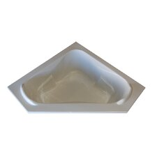 "<strong>American Acrylic</strong> 60"" x 60"" Soaker Corner Bathtub with Raised Headrest"