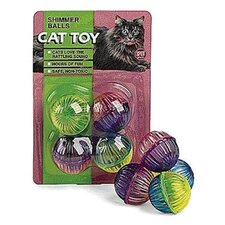 Shimmer Balls Cat Toy (4 Pack)