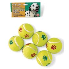 Tennis Ball Dog Toy (6 Pack)