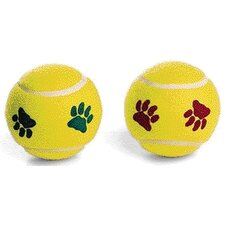 <strong>Ethical Pet</strong> Pawprint Tennisball Dog Toy (2 Pack)