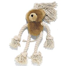 <strong>Ethical Pet</strong> Moppets Bear Plush and Rope Dog Toy