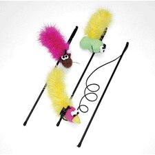 Feather Boa Wand Cat Toy