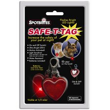 Safe T-Tag Heart Shape LED ID