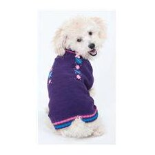 Co-Ed Heart Dog Sweater in Purple