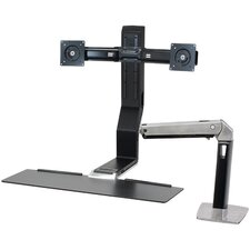 2 Screen Height Adjustable Work Station