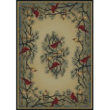Hautman Cardinal In Pine Novelty Rug