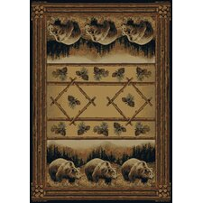 Hautman Grizzly Pines Lodge Novelty Rug