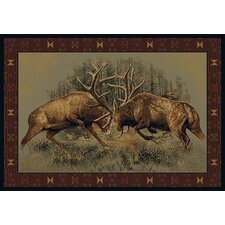 <strong>Buckwear</strong> Buckwear Fight For Dominance Lodge Novelty Rug
