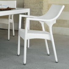 Cafenoir Outdoor Stackable Dining Chair with Cushion by Varaschin R and D