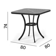 Joker Square Aluminium Dining Table