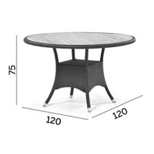 Kresos Round Woven Dining Table