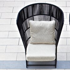 Tibidabo High Back Armchair with Cushion by Calvi and Brambilla