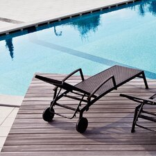 Victor Reclining Sunbed with Wheels and Armrest by Varaschin R and D