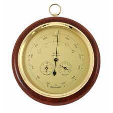 Barometer mit Thermometer und Hygrometer